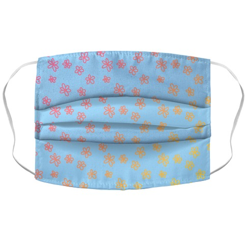 Tiny Little Gradient Flowers Accordion Face Mask
