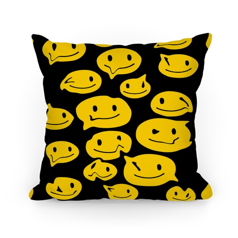 Melting Smiley Faces Pillow