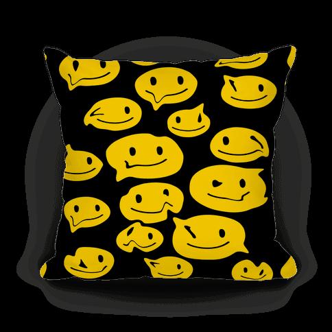 Melting Smiley Faces Pillow