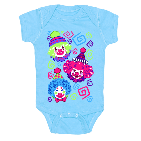 Kawaii Clowns Baby One-Piece