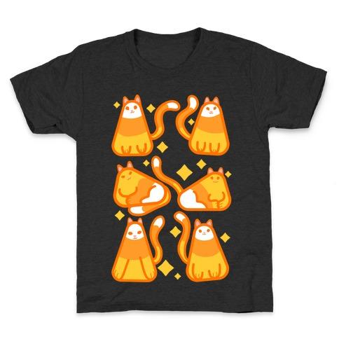 Candy Corn Cats Kids T-Shirt