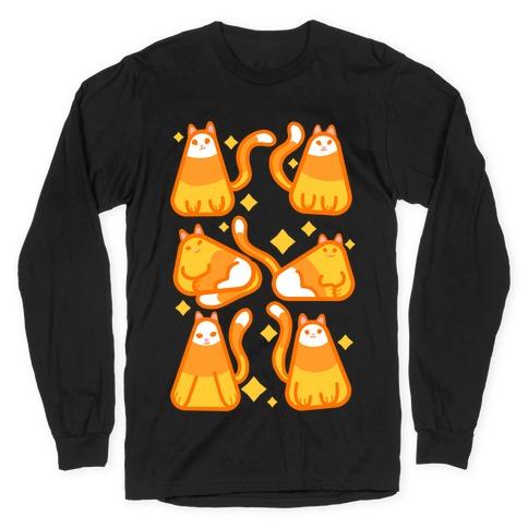 Candy Corn Cats Long Sleeve T-Shirt