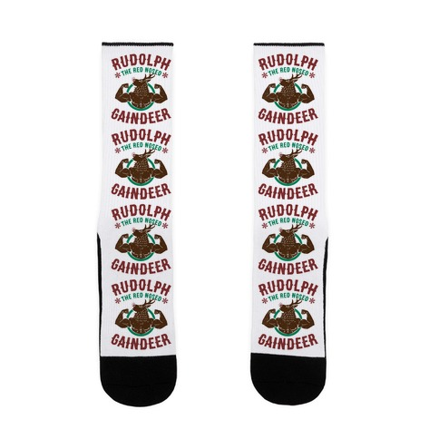 Rudolph The Red Nosed Gaindeer Sock