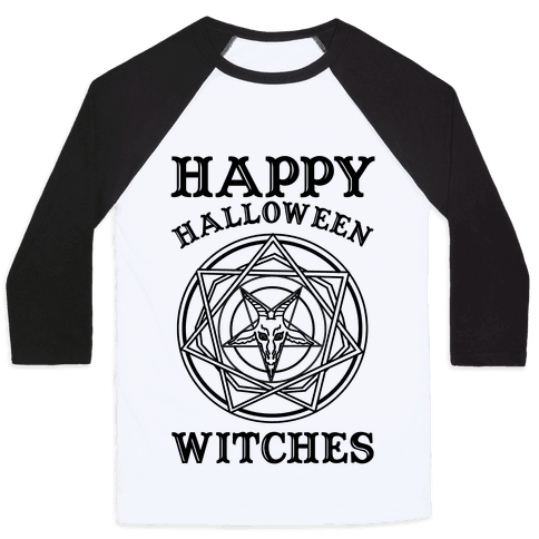 Happy Halloween Witches Baseball Tee