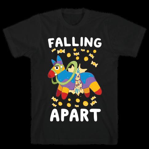 Falling Apart Pinata Mens T-Shirt