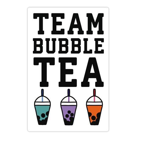 Team Bubble Tea Die Cut Sticker