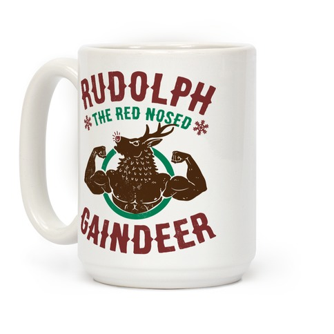 Rudolph The Red Nosed Gaindeer Coffee Mug
