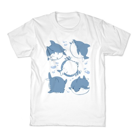 Fat Shark Pattern Kids T-Shirt
