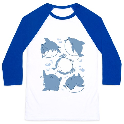 Fat Shark Pattern Baseball Tee