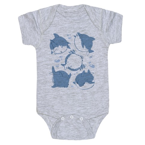 Fat Shark Pattern Baby Onesy