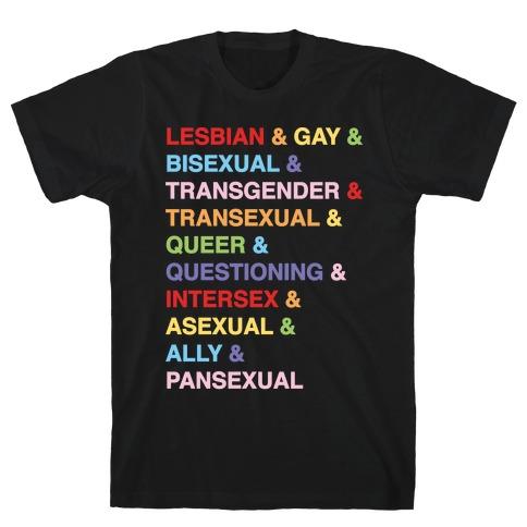 LGBTQIA And Then Some White Print T-Shirt