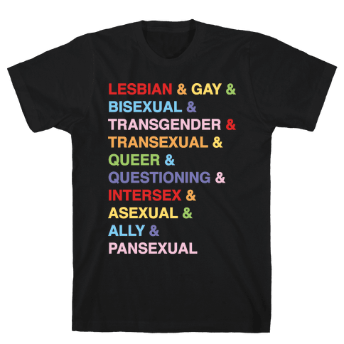 LGBTQIA And Then Some White Print Mens T-Shirt