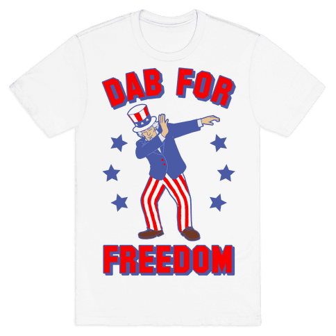 DAB FOR FREEDOM Mens T-Shirt