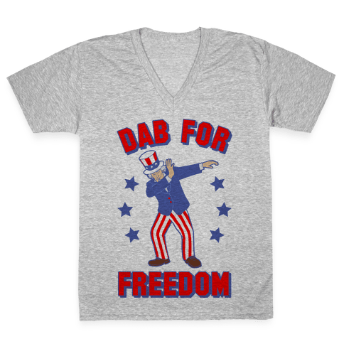 DAB FOR FREEDOM V-Neck Tee Shirt