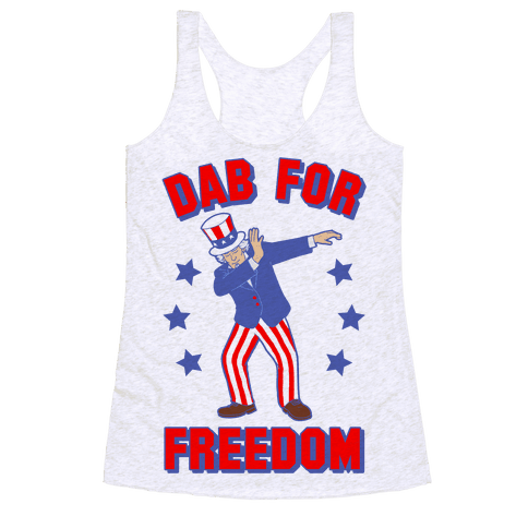 DAB FOR FREEDOM Racerback Tank Top