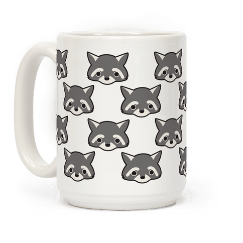 Cute Raccoon Face Coffee Mug