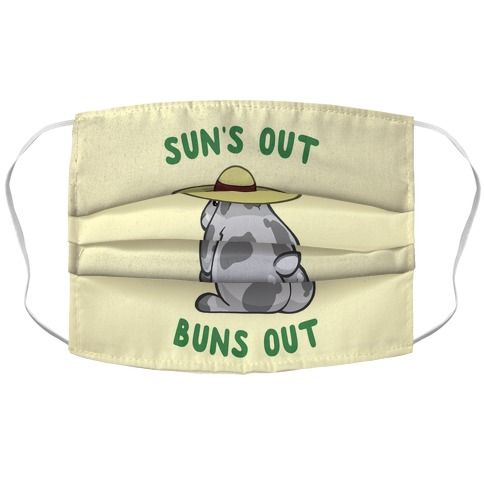 Sun's Out Buns Out Bunny Accordion Face Mask