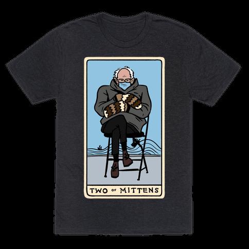 Two of Mittens (Bernie Tarot Parody) Mens/Unisex T-Shirt