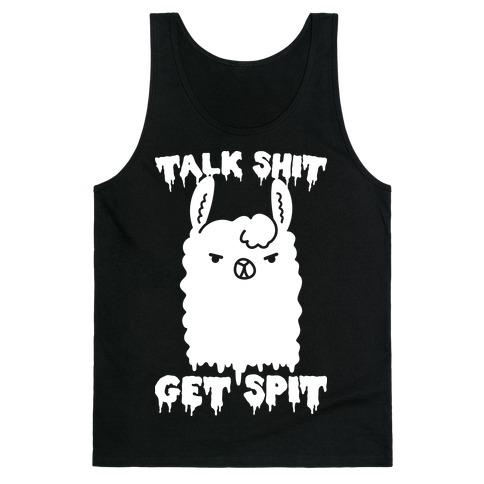 Talk Shit Get Spit Llama Tank Top