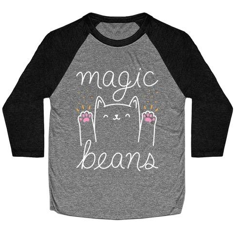 Magic Beans Cat Baseball Tee
