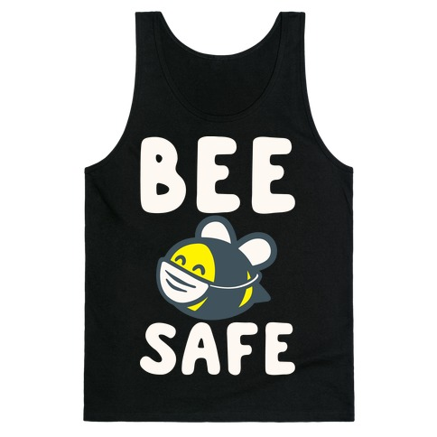 Bee Safe White Print Tank Top