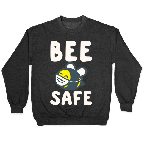 Bee Safe White Print Pullover