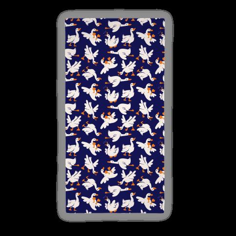 Goose Pattern Beach Towel