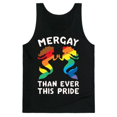 Mergay Than Ever This Pride White Print Tank Top