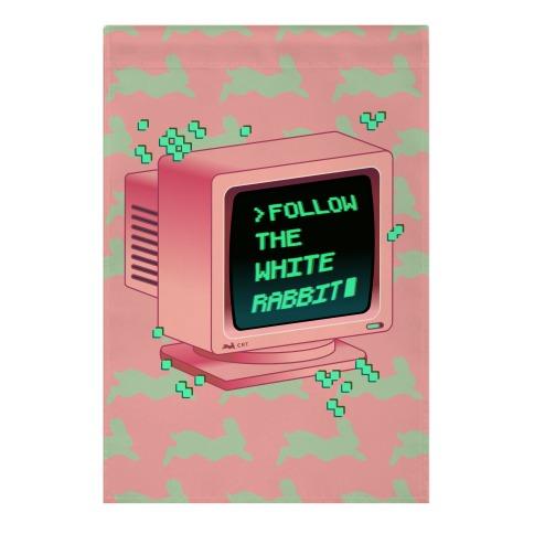 Follow The White Rabbit Garden Flag