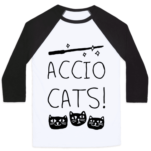 Accio Cats Baseball Tee