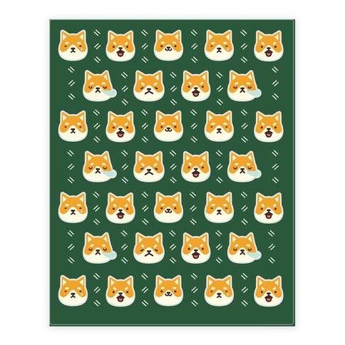 Shiba Inu Stickers Sticker/Decal Sheet