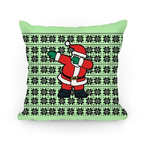 Dabbing Around the Christmas Tree Pillow