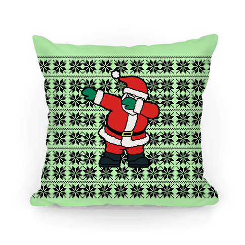 Dabbing Around the Christmas Tree Pillow