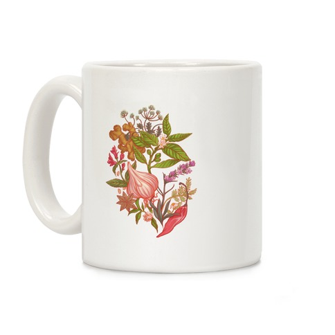 Chef's Botanical Herbs and Spices Coffee Mug