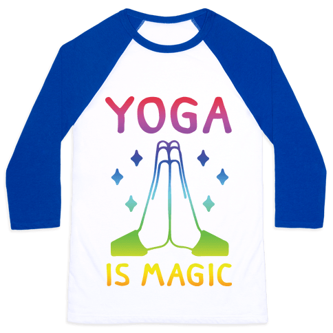 Yoga Is Magic Baseball Tee