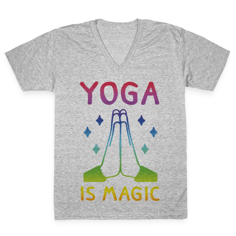 Yoga Is Magic V-Neck Tee Shirt