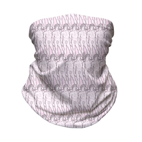 Ew David Pink Pattern Neck Gaiter