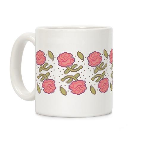 Pixel Roses Coffee Mug