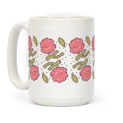 Pixel Roses Coffee Mug