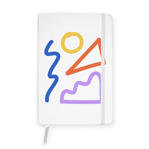 Bold Abstract Shape Outlines Notebook