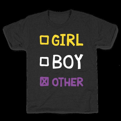 Non-Binary Gender Checklist Kids T-Shirt