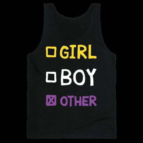 Non-Binary Gender Checklist Tank Top