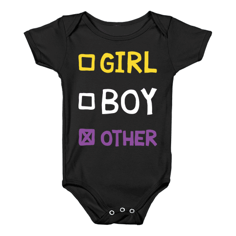 Non-Binary Gender Checklist Baby Onesy