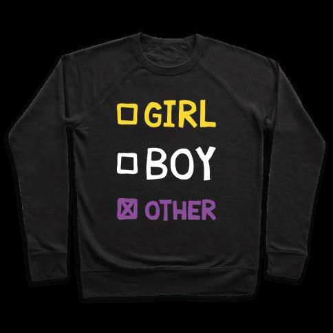 Non-Binary Gender Checklist Pullover