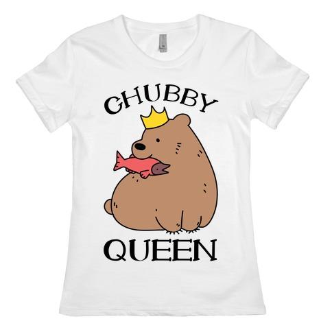 Chubby Queen Womens T-Shirt