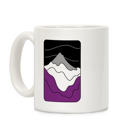 Groovy Pride Flag Landscapes: Ace Flag Coffee Mug