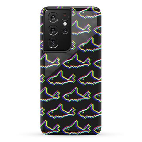 Glitch Shark Pattern Phone Case