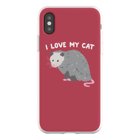 I Love My Cat Opossum Phone Flexi-Case