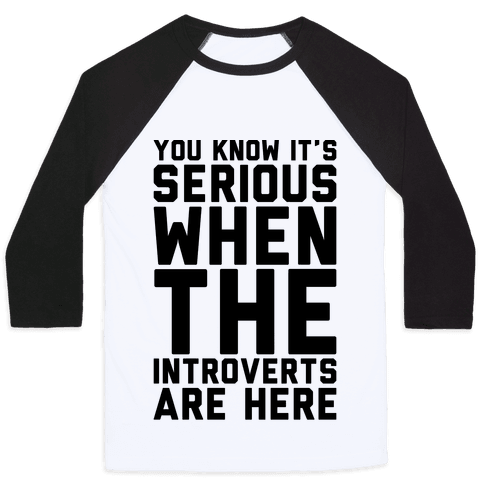 Introvert Protest Baseball Tee