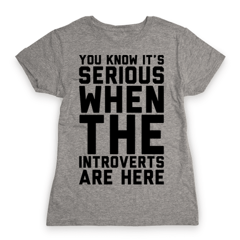 Introvert Protest Womens T-Shirt